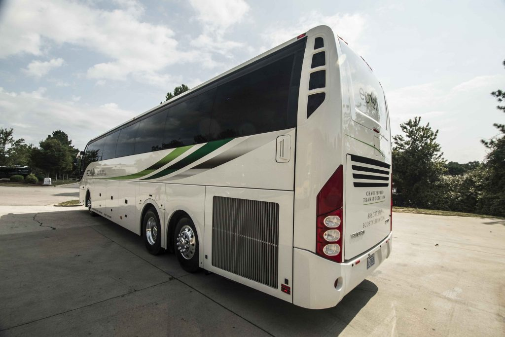 White Volvo Coach