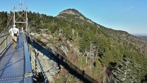 suspension bridge grandfather mountain