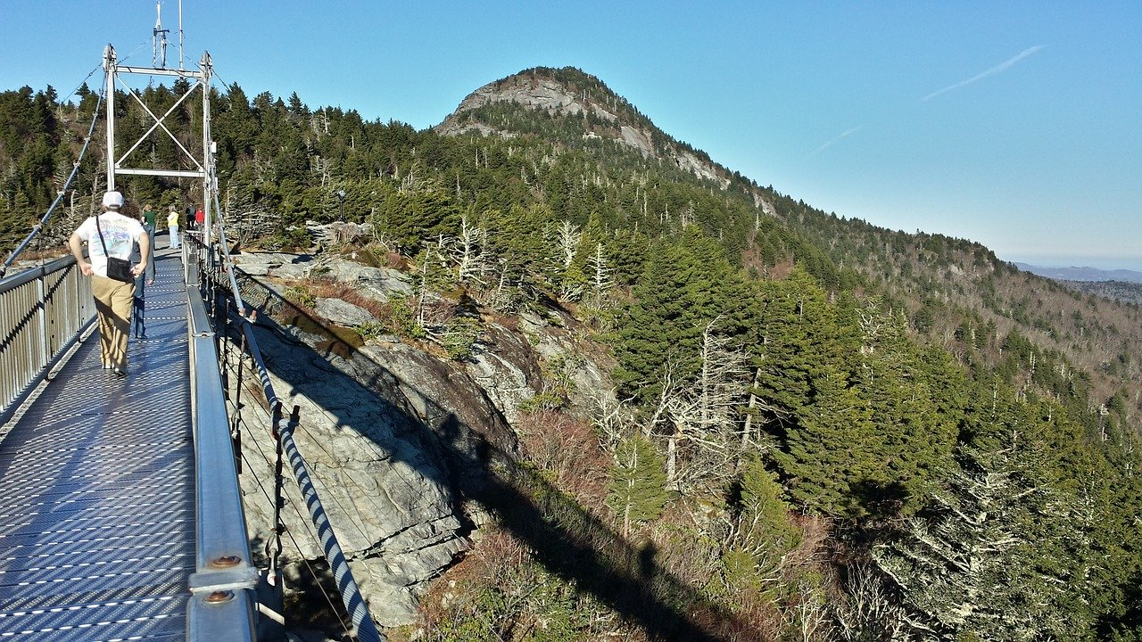 suspension bridge grandfather mountain